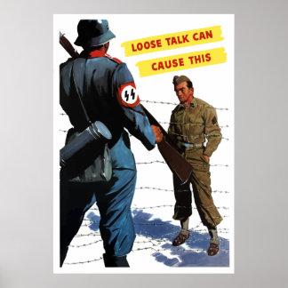 De losse Bespreking kan dit veroorzaken Poster