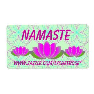 De lotusbloemetiketten van Namaste Etiket