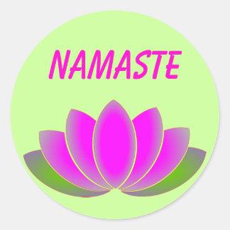 De lotusbloemsticker van Namaste Ronde Sticker
