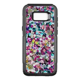 De Lovertjes Bling van Faux van de Regenboog van OtterBox Commuter Samsung Galaxy S8+ Hoesje