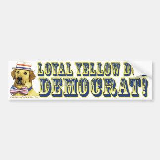 De loyale Gele Sticker van de Bumper van de Democr Bumpersticker