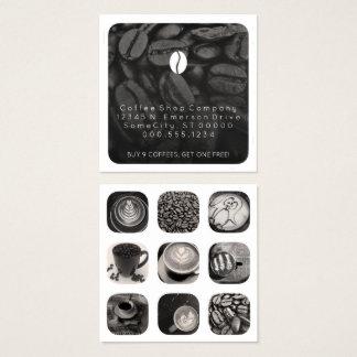 de loyaliteit van het koffiegram vierkant visitekaartjes