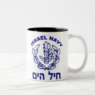 De Luchtmacht van Israël & De Marine van Israël Tweekleurige Koffiemok