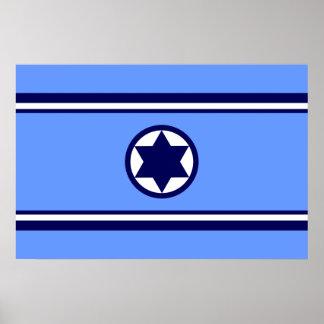 De Luchtmacht van Israël, De vlag van Israël Poster