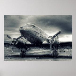 De Luchtvaart Dakota gelijkstroom-3 van het Poster