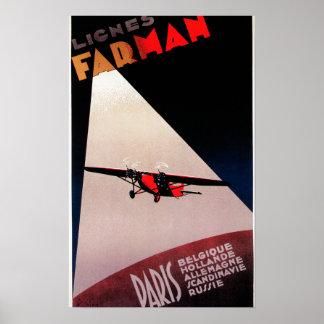 De Luchtvaartlijnen Farman 300 van Farman de Post Poster