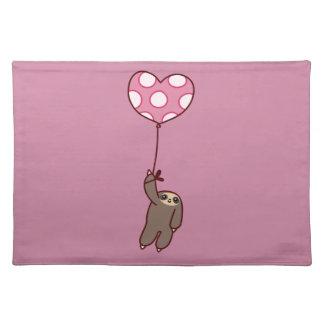 De Luiaard van de Ballon van het hart Placemat