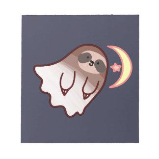 De Luiaard van het spook Notitieblok