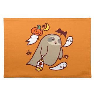 De Luiaard van het Spook van Halloween Placemat