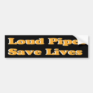 De luide Pijpen redden het Leven (Sinaasappel op Z Bumpersticker