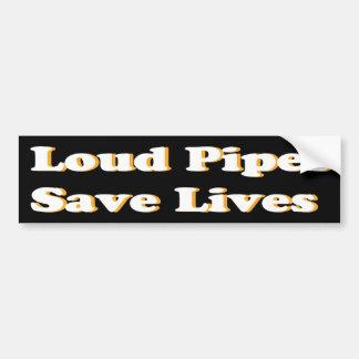 De luide Pijpen redden het Witte Leven (op Zwarte) Bumpersticker
