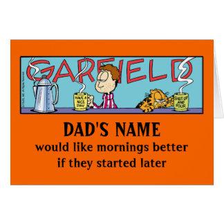 De Luie Ochtenden van Garfield Wenskaart