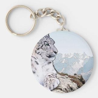 De Luipaard van de sneeuw Sleutelhanger