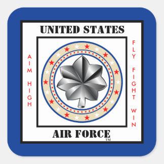 De Luitenant van de Luchtmacht Kolonel LTC o-5 Vierkante Sticker