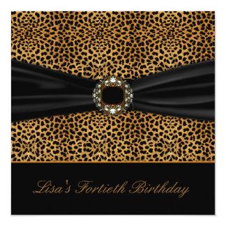 De luxueuze Partij van de Verjaardag van de Vrouw 13,3x13,3 Vierkante Uitnodiging Kaart