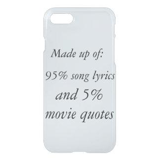 De lyrische gedichten van het lied en van iPhone 8/7 hoesje