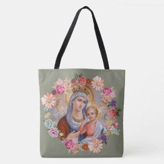 De maagdelijke van de Moeder Floral Angels Kroon Draagtas