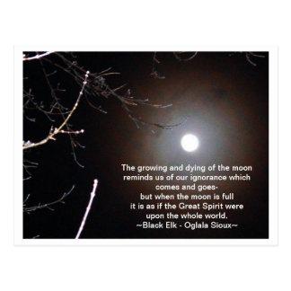 De maan briefkaart