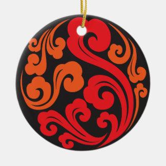 De Maan Chinese Bistro van Shanghai & Bar 05 Rond Keramisch Ornament