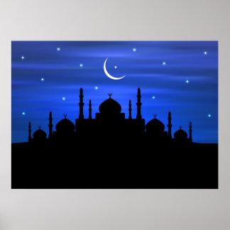 De Maan & de Moskee van de Ramadan Poster