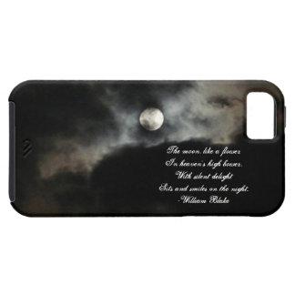 De maan en het Oog+Citaat Tough iPhone 5 Hoesje