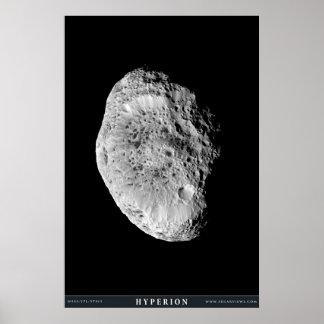 De Maan Hyperion van Saturn Poster