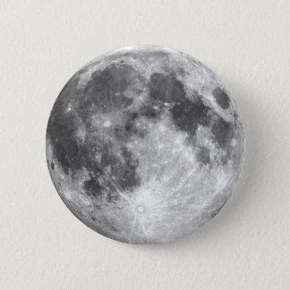 De MAAN van de AARDE (zonnestelsel) ~ Ronde Button 5,7 Cm