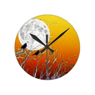 De Maan van de herfst Ronde Klok
