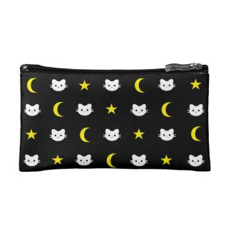 De Maan van de Kat van het kat en de Kosmetische Make-up Bag