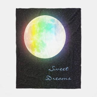 De Maan van de regenboog en de Sterrige Hemel van Fleece Deken