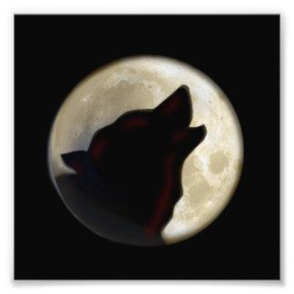 De Maan van de wolf Fotoafdruk