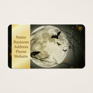 De maan van Halloween - volle maanillustratie Visitekaartjes