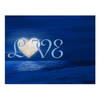 De Maan van het hart met de SneeuwWinter van de Briefkaart