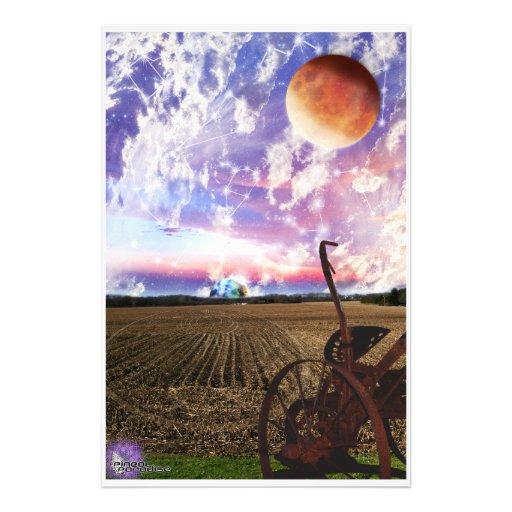 De Maan van midwesten Foto Print