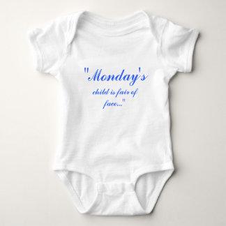 """De """"maandag, kind is eerlijk van gezicht… """" romper"""