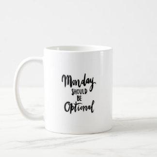 """De """"maandag zou Facultatief moeten zijn"""" - Koffiemok"""