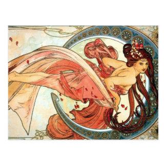 De maangodin van Beautful in Rood briefkaart