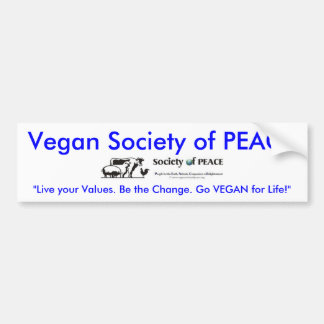De Maatschappij van de veganist van de sticker van Bumpersticker