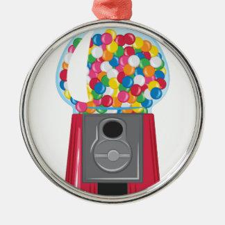 De Machine van Gumball Zilverkleurig Rond Ornament