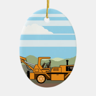 De Machines van het Voertuig van de Tractor van de Keramisch Ovaal Ornament