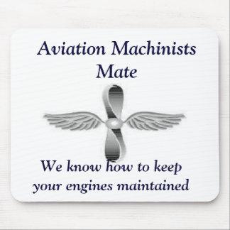 De Machinisten van de luchtvaart koppelen Mousepad Muismat