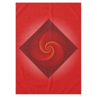 De macht beweegt Fractal - rood spiraalsgewijs + Tafelkleed