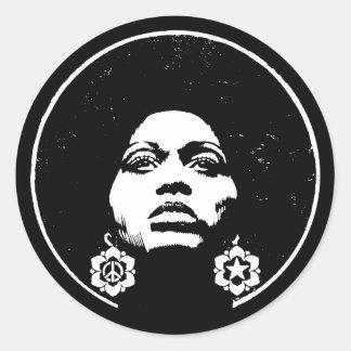 De Macht van Afro Ronde Sticker