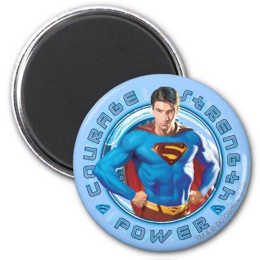 De Macht van de Sterkte van de Moed van de superma Koelkast Magneten