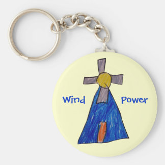 De Macht van de wind Basic Ronde Button Sleutelhanger