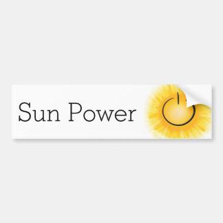 De Macht van de zon voor EVs Bumpersticker