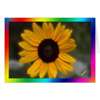 De Macht van de zonnebloem de Macht van Bloemen Wenskaart