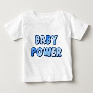 De MACHT van het BABY in Blauw Baby T Shirts