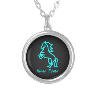 De Macht van het paard in Blauw Zilver Vergulden Ketting