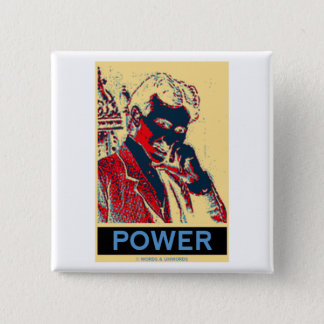 De Macht van Nikola Tesla (obama-als Poster) Vierkante Button 5,1 Cm